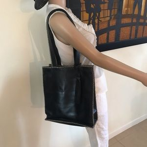 Handbags - Black Leather shoulder Bag